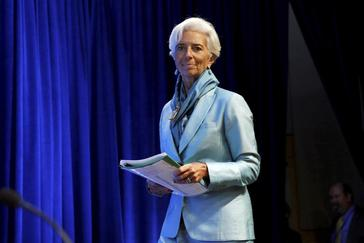 International Monetary Fund (IMF) Managing Director Christine Lagarde arrives at a news conference during the IMF/World Bank annual meetings in Washington, U.S., October 8, 2016. REUTERS/<HIT>Yuri</HIT> <HIT>Gripas</HIT> - S1BEUFVNUOAB
