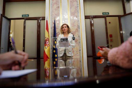 Meritxell Batet, presidenta del Congreso, ayer en la Cámara Baja.