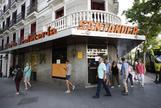 Vista ayer de la cafetería Santander.