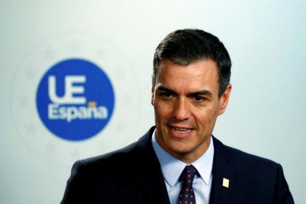 Pedro Sánchez, en una rueda de prensa celebrada en Bruselas este martes.