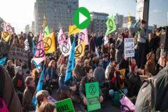 Protesta organizada por el movimiento Extinction Rebellion,