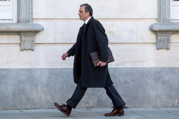 Javier Ortega Smith, llegando al Supremo en una de las sesiones del...