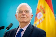 (FILES) In this file photo taken on April 9, 2019 Spain's Foreign Minister Josep <HIT>Borrell</HIT> attends a press conference after meeting with his Slovenian counterpart in Ljubljana. - Josep <HIT>Borrell</HIT> was appointed head of the European diplomacy on July 2, 2019. (Photo by Jure Makovec / AFP)