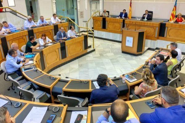 Penúltimo pleno del mandato en la Diputación de Alicante.