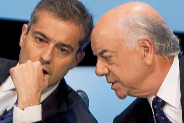 El ex presidente del BBVA Francisco González y el consejero delegado Ángel Cano, en 2012.