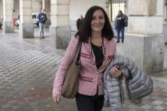 La juez María Núñez Bolaños, a su salida de los juzgados de Sevilla.