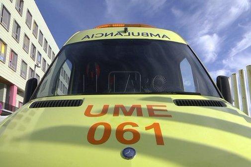 Ambulancia del servicio de Emergencias de Ceuta.
