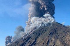 Así explotó el volcán Stromboli
