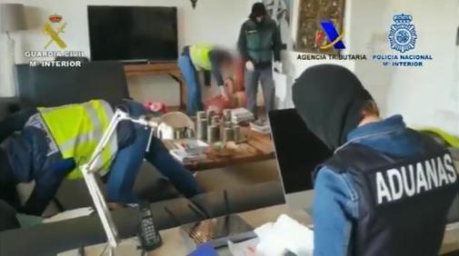 Operación de la Guardia Civil y la Policía Nacional contra el narcotráfico, el pasado 8 de junio.