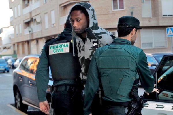 Momento en el que la Guardia Civil detiene a Semedo.