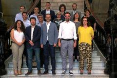 Equipo de gobierno del Ayuntamiento de Palma con el alcalde socialista José Hila al frente.