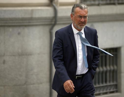 Ignacio Pérez Caballero, directivo de BBVA, a su llegada este jueves a la Audiencia Nacional.