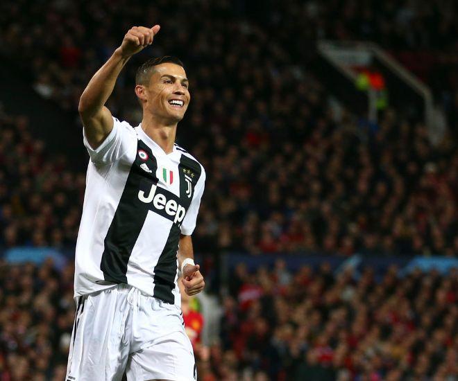 Ronaldo en uno de sus primeros partidos con la Juve