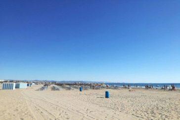 La playa de la Malvarrosa.
