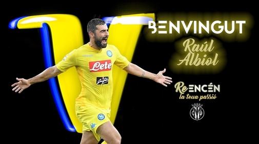 Imagen de promoción de Albiol con la camiseta amarilla.