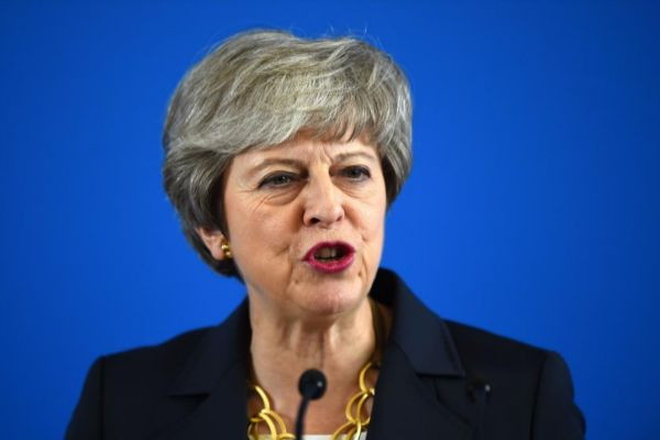 La primera ministra británica, Theresa May, hoy, en Escocia