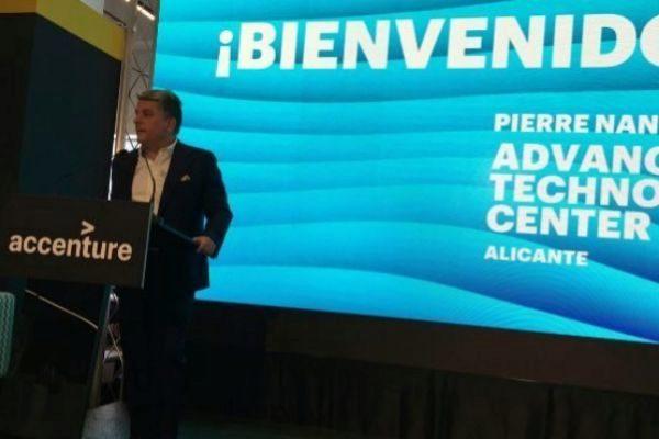 El presidente de Accenture, Juan Pedro Moreno, durante la presentación.