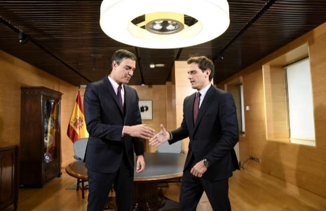 Pedro Sánchez y Albert Rivera el pasado mes de junio en Madrid.