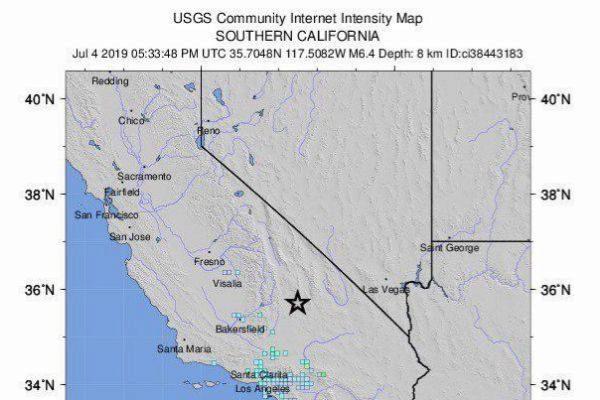 Mapa del Servicio Geológico de Estados Unidos.