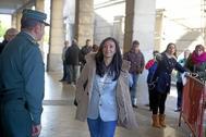 La juez Núñez Bolaños, a su llegada a los juzgados en una imagen de archivo.