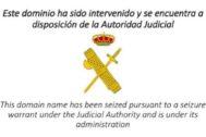 Uno de los dominios cerrados por la Guardia Civil.