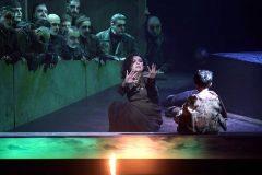 Momento del montaje de 'Il Trovatore' en el Teatro Real.