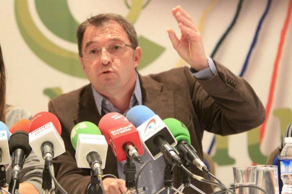 Joseba Gezuraga en una comparecencia de prensa.