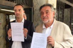 Pepu Hernández, tras presentar el recurso.