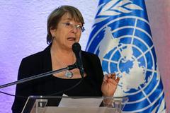 La alta comisionada de Naciones Unidas, Michelle Bachelet.