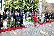 La presidente del Parlamento interviene en un momento del homenaje a Blas Infante.