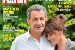 Portada de 'Paris Match' en la que Sarkozy parece más alto que Bruni.