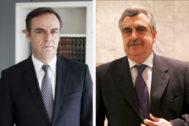 El actual presidente de la Audiencia Nacional, José Ramón Navarro (izqda.), y el juez instructor Ismael Moreno.