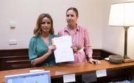 Las diputadas de Ciudadanos, Patricia Reyes y Melisa Rodríguez, presentando la en el Congreso su proposición de Ley de Gestación Subrogada
