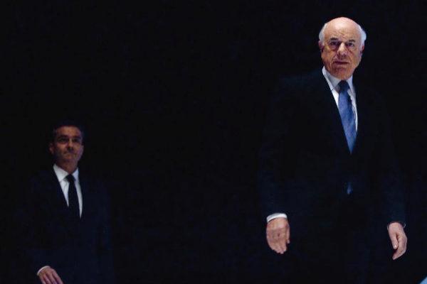 El ex presidente de BBVA, Francisco González y el consejero delegado Ángel Cano, durante la junta de accionistas del banco en 2010.