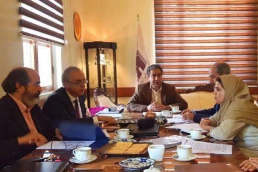 Jorge Soler y Josep Albert Cortés, en la firma del convenio con las autoridades iraníes.