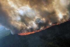 Incendio en un área cercana a Delta Creek, en Alaska