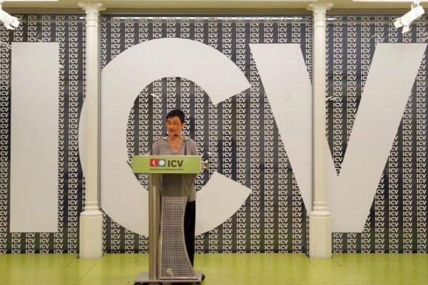 Marta Ribas, en una rueda de prensa de ICV