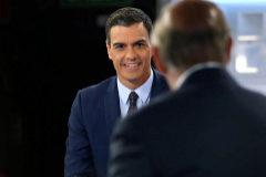 Pedro Sánchez, durante su entrevista en Telecinco.