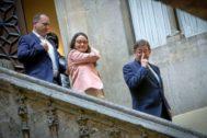 El presidente Puig, con sus vicepresidentes Rubén Martínez Dalmau y Monica Oltra.