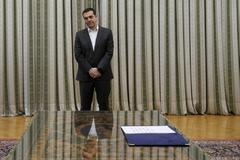 El primer ministro, Alexis Tsipras, en el Palacio presidencial de Atenas.