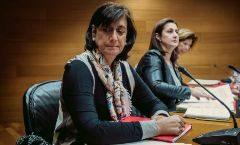 La ex gerente de FGV Marisa Gracia  en la segunda comisión de investigación sobre la tragedia del metro.