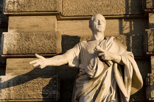 Estatua de Cicerón en el Palacio de Justicia de Roma.
