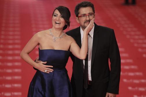 Silvia Abril y Andreu Buenafuente, en los Goya de 2019.