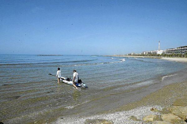 Playa de Cubelles, en una foto de archivo