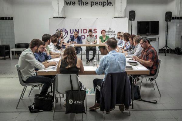 Comisión del PSPV-PSOE, Compromís y Unides Podem-EU encargada de negociar el pacto del Botànic II.