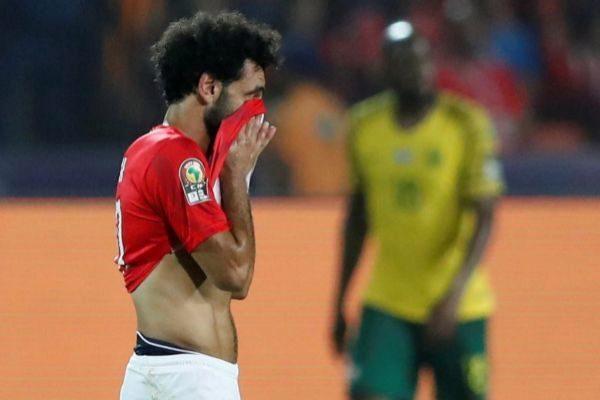 Salah, tras el gol de Lorch en El Cairo.