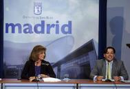 David Erguido, junto a la ex alcaldesa Ana Botella, en una rueda de prensa en 2012.