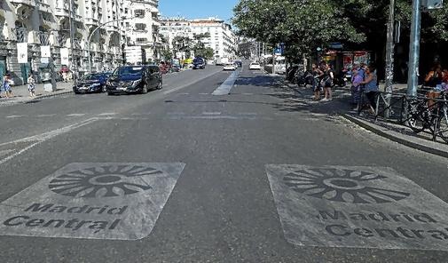 Carrera de San Jerónimo, dentro del perímetro de Madrid Central.