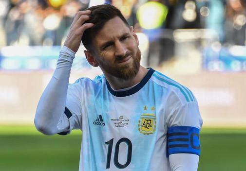 Messi, durante el partido ante Chile.