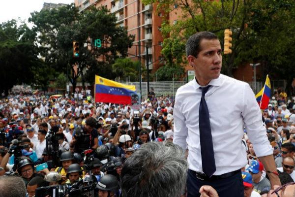 Juan Guaidó durante un reciente acto en Caracas.
